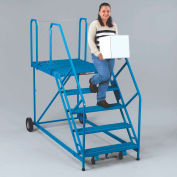 EGA Truck/Dock Ladder 5-Step Grip Strut, Blue 800Lb. Capacity Assembled - U5-3648WPSU