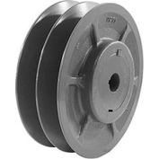 "Double-Groove Variable Pitch Sheave, 5/8"" Bore, 3.35"" O. D., 2VP36X5/8"