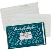 "Ekonomik® Check Register Book, 18 Columns, 14-3/4"" x 8-3/4"", White, 1 Each"