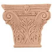 """Ekena Large Floral Roman Corinthian Capital CAP11X03X09FLCH, 11-1/2""""W x 6-3/4""""BW x 3-3/4""""D x 9-5/8""""H"""