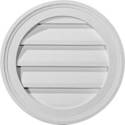 "Ekena Round Gable Vent Louver GVRO12F, 12""W x 12""H, Functional"
