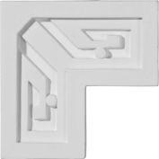 """Ekena Eris Key Panel Moulding Corner PML03X03ER, 3-3/8""""W x 3-3/8""""H x 7/8""""D"""