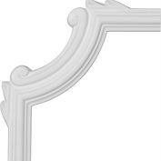 """Ekena Bradford Wave Panel Moulding Corner PML06X06BR, 6-1/2""""H x 6-1/2""""W"""