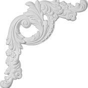 """Ekena Tirana Panel Moulding Corner PML16X18TI-L, 16-1/2""""W x 18-1/8""""H x 1-1/4""""D"""
