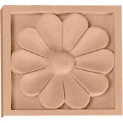 "Ekena Small Medway Rosette ROS03X03MELW, 3""W x 3""H x 5/8""D"