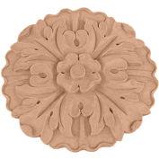 """Ekena Medium Kent Floral Rosette ROS06X06X01KELW, 6-7/8""""W x 6-7/8""""H x 1""""D"""