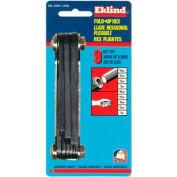 "Eklind 20911 5/64-1/4"" 9Pc. Ball End Fold Up SAE Hex Key Set"