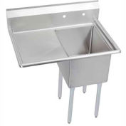 "Elkay 1C18X24-L-24X NSF Sink, 1-Compartment w/18""L x 24""W Bowl, 12"" Deep, (1) 24"" Left Drainboard"