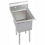 """Elkay 1C24X24-0X NSF Sink, 1-Compartment w/24""""L x 24""""W Bowl, 12"""" Deep"""