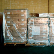 "LDPE Pallet Cover 85"" x 51"" for Pallet Size 48"" x 48"" x 60"" 2 Mil Clear 50 Pack"