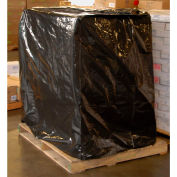 """3 Mil LDPE Pallet Cover w/ UVI Additive, 51""""W x 49""""D x 73""""H, Black, Pack of 50"""