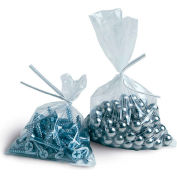 "Flat Poly Bags 3""W x 18""L 0.9 Mil Clear 5,000 Pack"