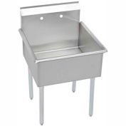 "Elkay B1C24X24X Utility Sink, 1-Compartment w/27""L x 27.5""W Bowl, 12"" Deep"