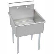 """Elkay B1C24X24X Utility Sink, 1-Compartment w/27""""L x 27.5""""W Bowl, 12"""" Deep"""
