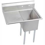 "Elkay E1C16X20-L-18X NSF Sink, 1-Compartment w/16""L x 20""W Bowl, 12"" Deep, (1) 18"" Left Drainboard"