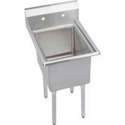 """Elkay E1C24X24-0X NSF Sink, 1-Compartment w/24""""L x 24""""W Bowl, 12"""" Deep"""