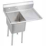 "Elkay E1C24X24-R-24X NSF Sink, 1-Compartment w/24""L x 24""W Bowl, 12"" Deep, (1) 24"" Right Drainboard"