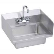 Elkay EHS-18-SSX Wall Economy Hand Sink w/ 14x10x5-in Bowl & Faucet, L-R Splash