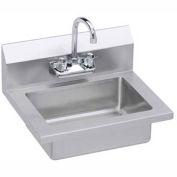 Elkay EHS-18X Wall Economy Hand Sink w/ 14x10x5-in Bowl & Gooseneck Faucet