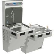 Elkay EMABFTL8WSLK EZH2O Water Bottle Refilling Station W/Bi-Level ADA Cooler, Refrig, Light Gray