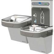 Elkay EZSTLDDWSLK EZH2O Water Bottle Refilling Station, Reversible Bi-Level, Non Refrig., Light Gray