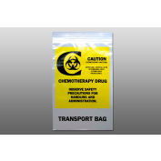 "Chemo Transfer Bag - Seal Top Reclosable, 4 mil, 6"" x 9"", Pkg Qty 1000"