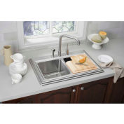 Elkay LK7722SSS, Ella Kitchen Faucet with Side Spray, Satin Stainless Steel, Sgl Remote Lever Handle