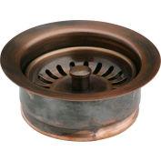 Elkay LKD35AC, Antique Copper Disposal Flange w/Removable Basket Strainer For Kitchen Sink Disposer