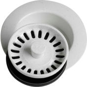 Elkay LKD35WH, White Disposal Flange w/Removable Basket Strainer For Kitchen Sink Disposer
