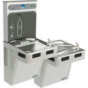 Elkay LMABFTL8WSSK EZH2O Water Bottle Refilling Station Bi-Level ADA Cooler, Filtered, Refrig, SS