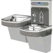 Elkay LZSTLDDWSVRLK EZH2O Water Bottle Refilling Station, Bi-Level, Non Refrig, Filt., VR Bub,L Gray