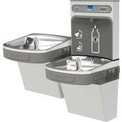 Elkay LZSTLDDWSVRSK EZH2O Water Bottle Refilling Station, Bi-Level, Non Refrig, Filtered, VR Bub, SS