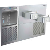 Elkay LZWS-SS28K EZH2O Water Bottle Refilling Station, SwirlFlo Bi-Level Refrig Cooler, Filtered, SS