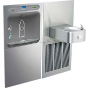 Elkay LZWS-SS8K EZH2O Water Bottle Refilling Station, Soft Sides Single Refrig Cooler, Filtered, SS