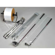 """Low Density Poly Tubing 2"""" x 1450' 3 Mil Clear Roll"""