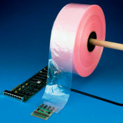 "Anti-Static Poly Tubing 8"" x 500' 6 Mil Pink Roll"