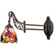 Landmark 079-TB-19 Mix-N-Match 1-Light Swingarm Sconce, Tiffany Bronze - Fruit Pattern