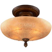 Landmark 08095-AGB Restoration 4-Light Semi Flush, Golden Bronze - 14H X 19W