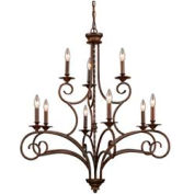 "ELK 15043/6+3 Gloucester 6+3 Light Chandelier, Antique Bronze, 35.5""W x 38""H"