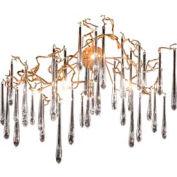 "ELK 1742/6 Veubroncé 6-Light Sconce, Tahla Bronze With Clear Crystal, 45""W x 32""H"