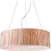 "ELK 19063/5 Modern Organics-5-Light Pendant, Bamboo Stem Material, Polished Chrome, 24""W x 7""H"