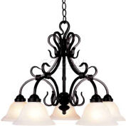 Landmark 245-BK Buckingham 5-Light Chandelier, Matte Black