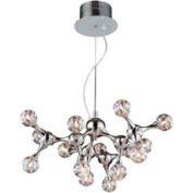 "ELK 30025/15 Molecular Collection 15-Light Chandelier, Chrome With Rainbow Glass, 25""W x 19""H"