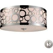 """ELK Lighting 31024/3-LA Retrovia Flushmount, Polished Nickel Finish, 16""""W x 7""""H"""