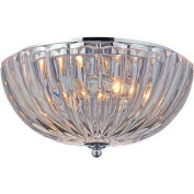 "ELK Lighting 31241/2 Crystal Flushmounts Flushmount, Polished Chrome Finish, 12""W x 6""H"