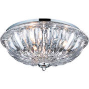"ELK Lighting 31242/3 Crystal Flushmounts Flushmount, Polished Chrome Finish, 16""W x 7""H"