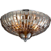 "ELK Lighting 31250/2 Crystal Flushmounts Flushmount, Polished Chrome Finish, 12""W x 7""H"