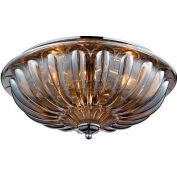 "ELK Lighting 31252/3 Crystal Flushmounts Flushmount, Polished Chrome Finish, 16""W x 7""H"
