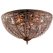 "ELK 5963/6 6 Light Flush Mount, Dark Bronze, 17""W x 10""H"