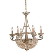 "ELK 5967/6+4 10 Light Chandelier, Dark Bronze, 26""W x 29""H"